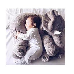 Topme Baby Kids Long Nose Elephant Doll Soft Plush Stuff Toys Lumbar Cushion Pillow Grey 50cm/19.6\