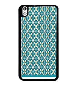 PrintDhaba Pattern D-1003 Back Case Cover for HTC DESIRE 816 (Multi-Coloured)