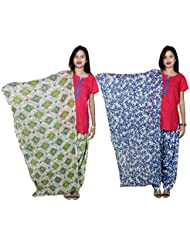 Indistar Women's Cotton Patiala Salwar With Dupatta Combo (Pack Of 2 Salwar With Dupatta) - B01HRK5KNW