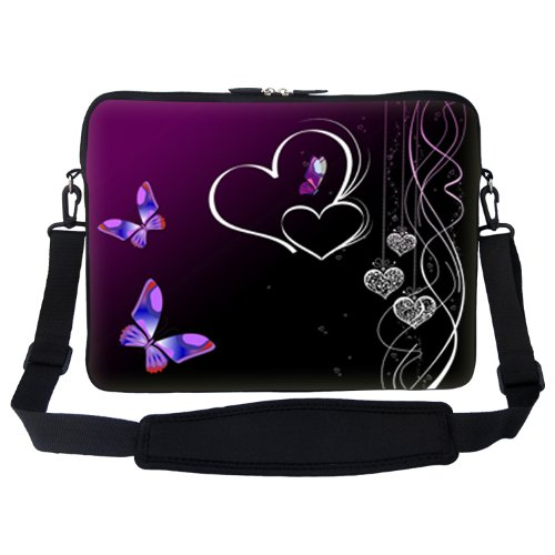 17 inch Butterfly Heart Design Laptop Sleeve