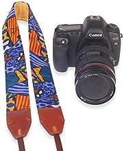 Golitonreg Microfiber leather camera shoulder neck strap belt for Sony Nikon Canon DSL RSL Rcamera
