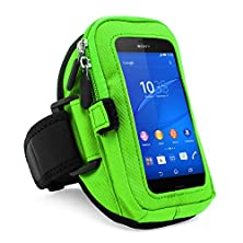 buy Vangoddy Zippered Sport Case Cover Gym Running With Removable Strap Armband With Card & Key Slot For Sony Xperia Z3 / Z3 Compact / Xperia Z2 D6503 / Xpria Z1 (C6902) / Xperia Z1 5Inch Lte (C6906) / Samsung I9250 Galaxy Nexus (Green)