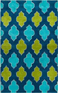 Rizzy Home FN2247 Fusion 8-Feet by 10-Feet Area Rug, Blue