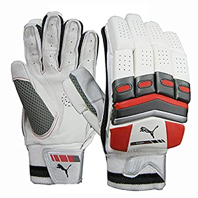 Puma White/Black Batting Gloves