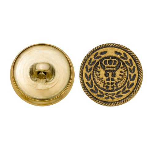 C&C Metal Products 5154 Modern Crowned Eagle Wreath Metal Button, Size 30 Ligne, Antique Gold, 36-Pack coupon codes 2016