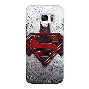 Ajay Enterprises Super vs Awesome Bat Back Case Cover for Galaxy S7 Edge