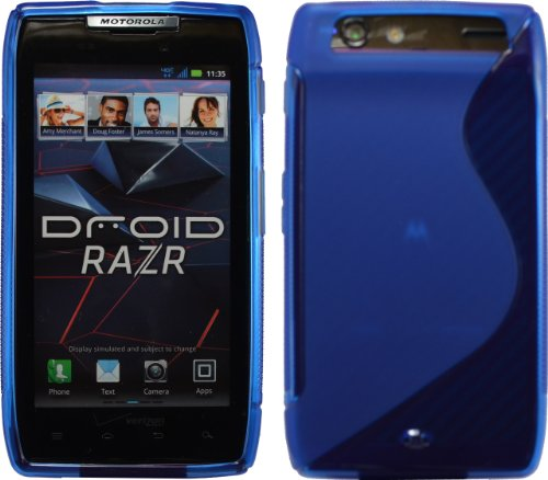 Blue Sline Tpu Case For Motorola Droid Razr Maxx Verizon Xt912