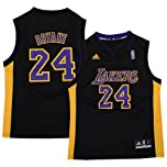 Los Angeles Lakers Kobe Bryant Pride Black Replica Youth Jersey by adidas