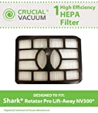 1 Shark NV500 HEPA Filter Fits Shark Rotator Pro Lift-Away, Compare to Part # XFH500, Designed & Engineered by Crucial Vacuum