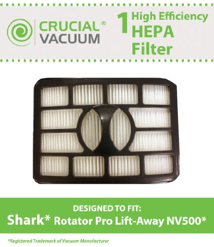1 Shark Nv500 Hepa Filter Fits Shark Rotator Pro Lift-Away, Compare To Part # Xfh500, Designed & Engineered By Crucial Vacuum front-4082