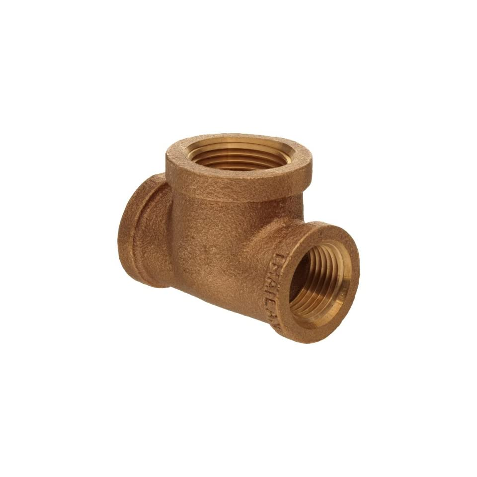 Brass Pipe Fitting, Class 125, Reducing Tee, NPT Female