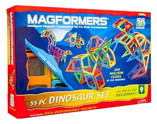 Magformers 63104 Dinosaur44; 55 Piece Set44; Ages 3 And Up