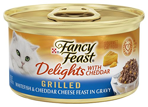 Fancy Feast Delights With Cheddar Grilled Whitefish & Cheddar Cheese Feast In Gravy