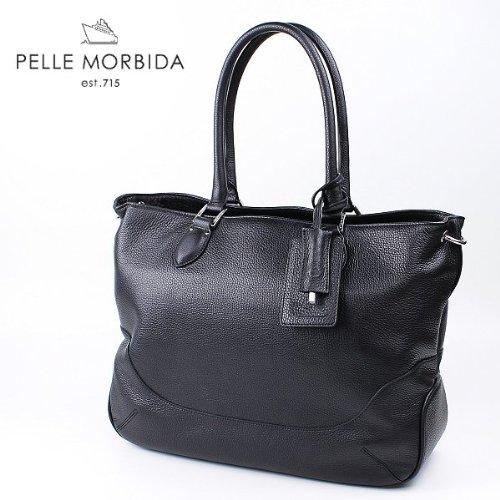 ブラック(C05) F PELLE MORBIDA ペッレ モルビダ トートバッグ TOTE BAG PMO-MB021(ブラック)