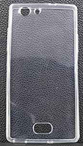 FCS Silicon Transparent Back Case For Oppo Neo 5 (2015) In Glossy Finish - White