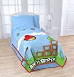 """Angry Birds Blanket Twin / Full 62"""" X 90"""" Micro Raschel ~ Over Sized Throw ~ Super Soft"""