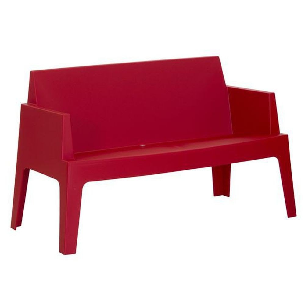 Gartensofa stapelbar aus Kunststoff Rot - Modell La Dolce Vita