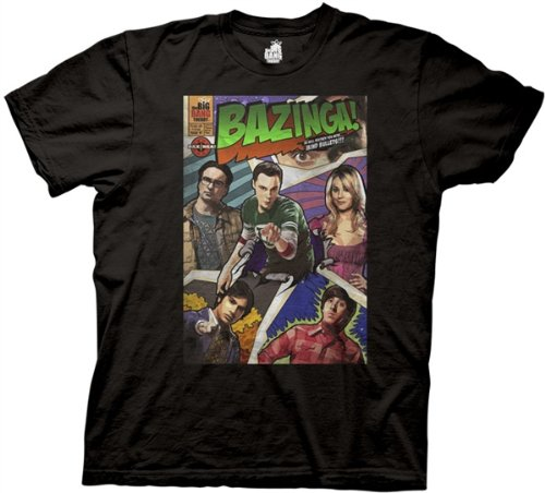Big Bang Theory Bazinga Comic Book Cover Men's T-Shirt,