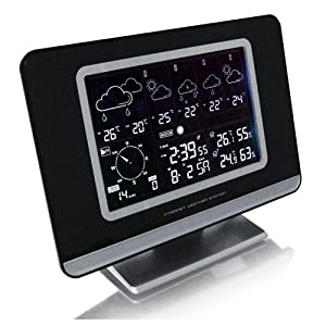 smart effects technoline ws580 internet usb weather station and clock kitchen home. Black Bedroom Furniture Sets. Home Design Ideas