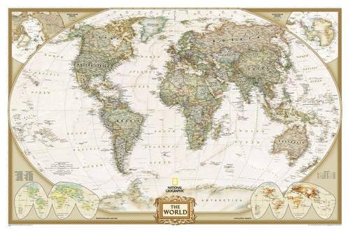 National Geographic World Executive Wall Map - Laminated (46 x 30.5 inches) (National Geographic Reference Map) [National Geographic Maps - Reference] (Tapa Blanda)