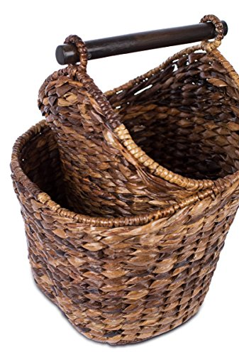 Birdrock Home Seagrass Magazine And Bathroom Basket Hand