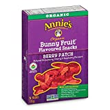Annie's Berry Patch Organic Bunny Fruit Snacks, 5 Pouches (Pack of 4), 0.8oz Pouches