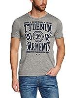 Tom Tailor Denim College CI - T-shirt - Asymétrique - Imprimé - Manches courtes - Homme