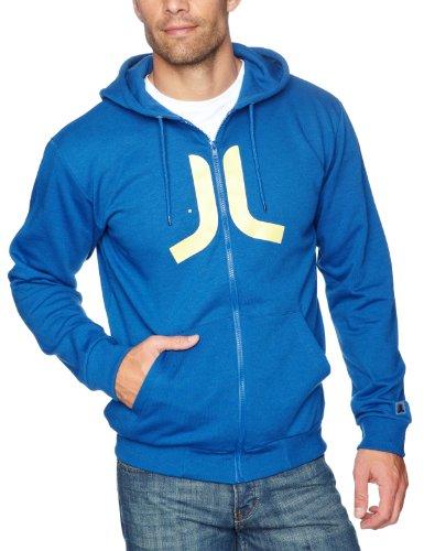 WeSC Icon Zip Hooded Men's Sweatshirt True Blue X-Large