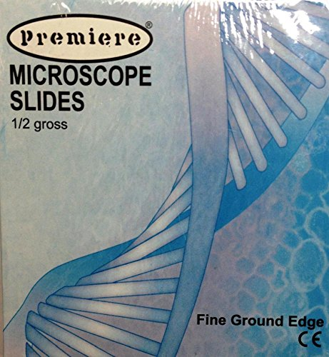 "Premiere 9101 144 Premiere Premium Glass Microscope Slides, 1"" X 3"" (25 X 75 X 1Mm)"