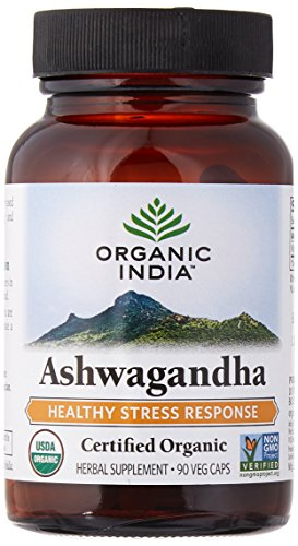 ORGANIC INDIA Ashwagandha Herbal Supplement Veg Capsules, Healthy Stress Response (90 Capsules) (Herbal Energy Pre Workout compare prices)