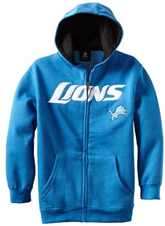 NFL Detroit Lions 8-20 Youth Sportsman Full Zip Fleece Hoodie by Reebok