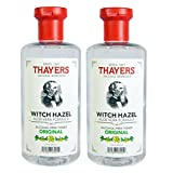 Thayers Witch Hazel with Aloe Vera, Original Astringent 12 oz ( Pack of 2)
