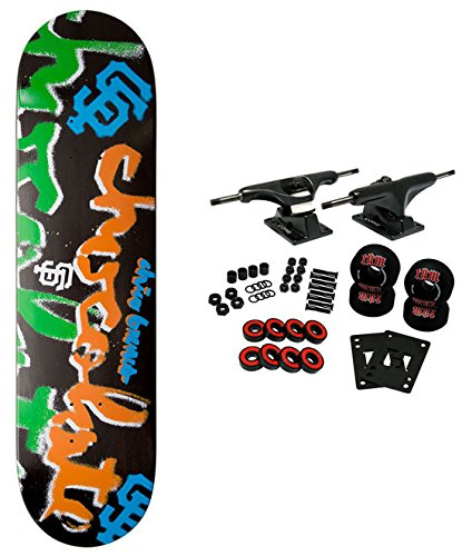 CHOCOLATE Pro Skateboard Complete ICON STENCIL BRENES 8 complete skateboard set chocolate deck