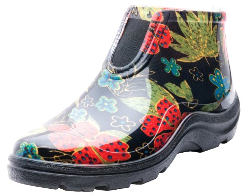 Sloggers 2841BK08 Women's Rain and Garden Ankle Boots with Comfort Insole, Size 8, Midsummer Black (Garden Rain Boots compare prices)