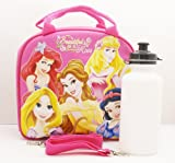 Disney Princess Lunch Bag with a Water Bottle - Hot Pink