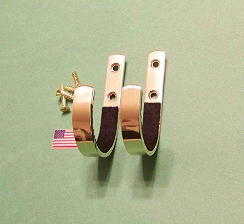 Sale!! Gun Rack Shotgun Hooks Rifle Hangers Archery Bow Felt Lined Wall Mount Storage