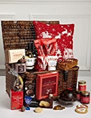 Family Christmas Hamper with Festive Cushion