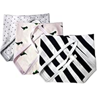 Kidbee New Born Baby Hosiery Cloth Nappy Multi Color Set Of 3b [0-6MONTHS]