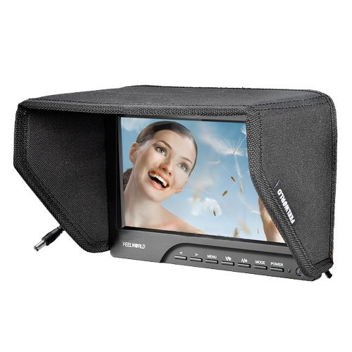 Cowboystudio 7 Inch Lcd Tft Hdmi Vga Monitor For Video Camera With F970 Adapter, Fw689-Hd