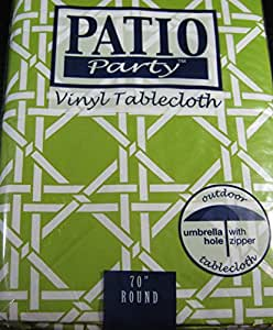 Patio Pary Flannel Back Vinyl Umbrella