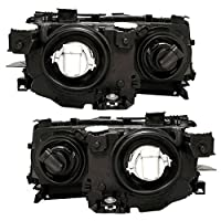 Driver And Passenger Halogen Headlights Headlamps Replacement For Bmw 63 12 6 902 753 63 12 6 902 754 by AUTOANDART.COM