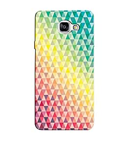 Citydreamz Colorful Triangle Pattern Hard Polycarbonate Designer Back Case Cover For Samsung Galaxy A7 2016 Edition/Samsung Galaxy A710