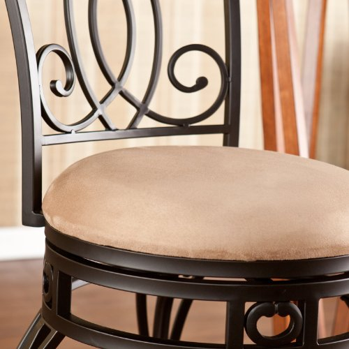 Southern Enterprises Roselle Swivel Counter Stool