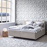 3D Decorative Panels Wall Forms 32.9 ft2/(12 Panels of 50×50 cm/19.6×19.6 in) (Triangles) (Color: Triangles, Tamaño: 32.9 ft2 / (12 panels of 50×50 cm / 19.6×19.6 in))