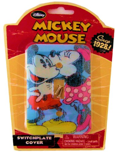 Vintage Disney Mickey and Minnie Mouse Switch Plate Cover by Momentum