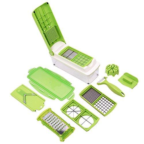 Super buy 12 PC Super Slicer Plus Vegetable Fruit Peeler Dicer Cutter Chopper Nicer Grater (Fruit And Vegetable Slicer compare prices)