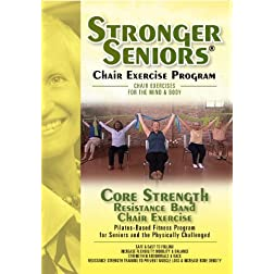 Stronger Seniors Core Strength DVD-Resistance Band Exercise Program developed by Anne Burnell, Instructor at the Rehabilitation Institute of Chicago. Gentle Exercises for Arthritis, Osteoporosis and Parkinson's. Resistance Band included