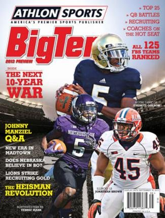 Athlon Sports 2013 College Football Big Ten Preview Magazine- Illinois/Northwestern/Notre Dame Fighting Irish Cover at Amazon.com