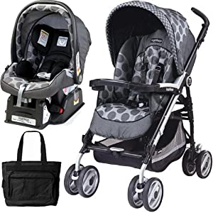 Peg Perego 2011 Pliko P3 Travel System with a Diaper Bag - Pois Grey