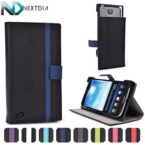 Alcatel One Touch Pop S9 Case With Slide Backing For Camera Access | Black And Sapphire Blue + Nd Cable Tie